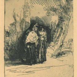 The Spanish gypsy 'Preciosa', Rembrandt etching, Bartsch, B. 120