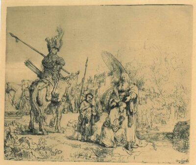 De doop van de kamerling, Rembrandt ets, Bartsch, B. 98