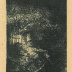 Rembrandt ets, Bartsch B. 57, Rust op