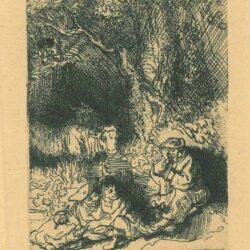 Rembrandt, Ets, Bartsch B. 189, The sleeping herdsman