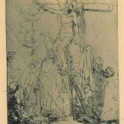 Rembrandt Etching, Bartch B. 82, The descent from the cross: a sketch