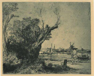 Rembrandt Ets Bartsch B. 209, De Omval