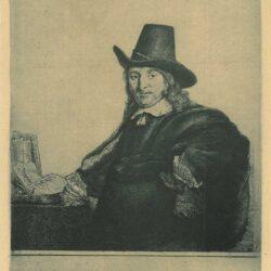 Rembrandt Etchting Bartsch B. 277, Jan Asselyn, painter (1610-1652) ['Crabbetje']