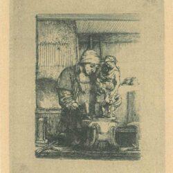 Rembrandt etching, Bartsch B. 123, The goldsmith
