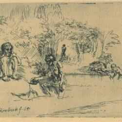 Rembrandt Etching, bartch b. 195,