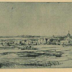 Rembrandt, etching, Bartsch B. 234, TheGoldweigher's Field