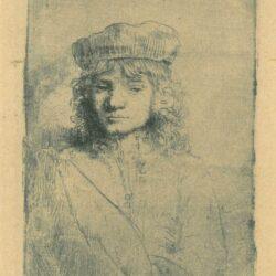 Rembrandt ets, Bartsch B. 11, New Hollstein 297, Titus van Rijn (1641-1668), de zoon van Rembrandt