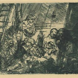 Rembrandt, etching, Bartsch B. 47, The circumcision in the stable