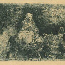 Rembrandt, etching, Bartsch B. 55,