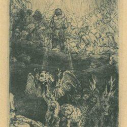 Rembrandt etching, Bartsch B. 36 b, The Judgement of Daniel