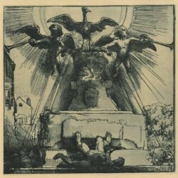 Rembrandt Etching Bartsch B. 110 The phoenix or the statue overthrown
