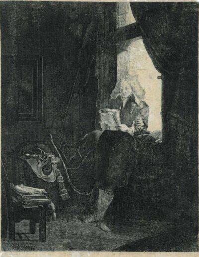 Rembrandt, etching, Bartsch B. 285, Jan Six(1618-1700)