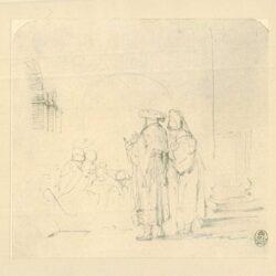Rembrandt, tekening, De Besnijdenis van Christus