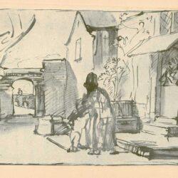 Rembrandt, tekening, hofstede de groot 218,