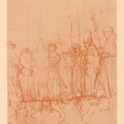 Rembrandt, tekening, hofstede de groot 221, Christus aan het volk getoond, ofwel 'Ecce Homo'
