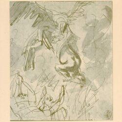 Rembrandt, tekening, hofstede de groot, no. 241, De ontvoering van Ganymedes