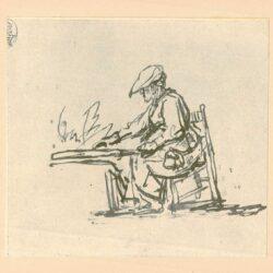 Rembrandt, tekening, hofstede de groot 257, De eierkoekenbakster