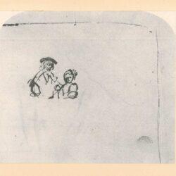 Rembrandt tekening, hofstede de groot 260, buste van een man en een vrouw