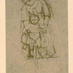Rembrandt, zeichnung, hofstede de groot 270, Frau mit pissendem Kind