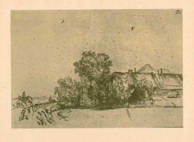 Rembrandt, tekening, hofstede de Groot 284, Boederij aan de Amsteldijk