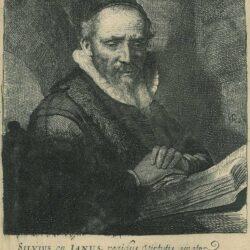 Rembrandt Etching, New hollstein 124, Bartch B. 266, Jan Cornelis Sylvius, preacher [1564-1638]