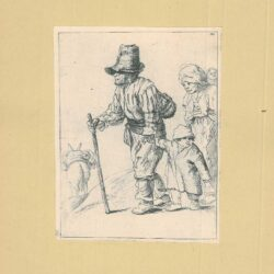Rembrandt etching, New Hollstein 266, copy b, Bartsch B. 131, Peasant family on the tramp