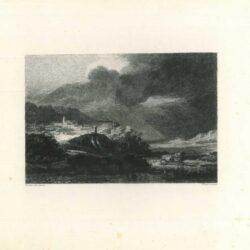 Rembrandt, schilderij, Berglandschap met storm