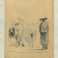 Rembrandt tekening Ferdinand Bol,