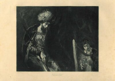 Rembrandt, painting, David and Saul