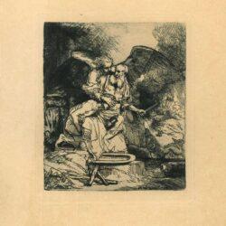 Rembrandt, etching, Bartsch B. 35, Abraham's Sacrifice