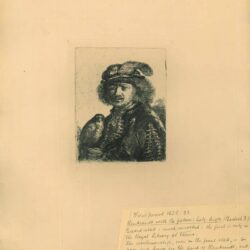 Rembrandt, etching, Bartsch B. 3, Rembrandt with the falcon