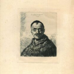 Rembrandt, Etching, Bartsch, B. 286, The first oriental head