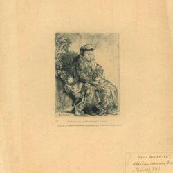 Jacob liefkoost Benjamin, Rembrandt, Ets, Bartsch B. 33
