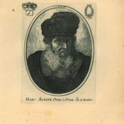 Rembrandt, etching, Bartsch B. 262, Old man with beard, fur cap and velvet cloak