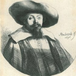 Samuel Menasseh ben Israel (1604-1657), Rembrandt ets, Bartsch, B. 269