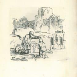 Rembrandt, drawing, Benesch 909, The baptism of the Eunuch