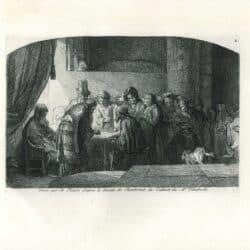 Rembrandt, drawing, Samuel van Hoogstraten, Judas Receiving the Thirty Pieces of Silver