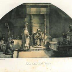 Rembrandt, tekening, Constantijn van Renesse, Josia en de profeet Hilkia