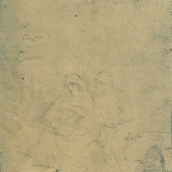 Rembrandt ets, Bartsch B. 58, Rust op de vlucht naar Egypte: licht geëtst