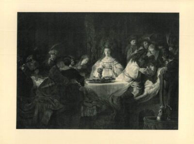 rembrandt painting The wedding of Samson (Judges 14:10-14)