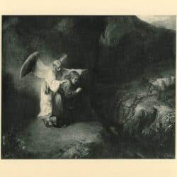 Rembrandt painting The vision of Daniel