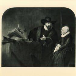 Rembrandt painting Double portrait of the Mennonite preacher Cornelis Claesz Anslo and his wife Aeltje Gerritsdr Schouten