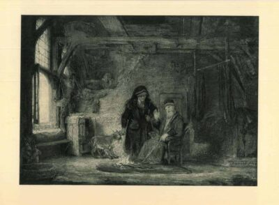 Rembrandt painting, Tobit and Anna with the kid