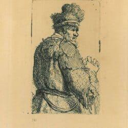 Rembrandt ets, Bartsch B. 143, Oude man van achteren gezien