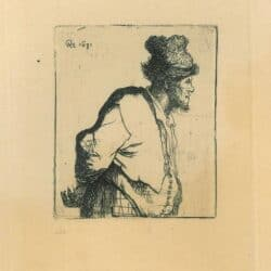 Rembrandt etching, Bartsch B. 135,