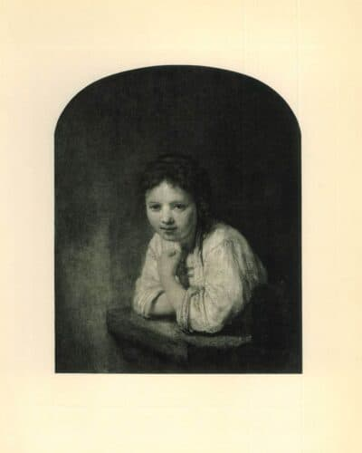 Rembrandt painting Girl at a window