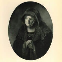 Rembrandt painting, The prophetess Anna
