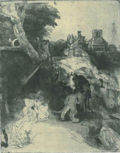 Rembrandt, etching, Bartsch B. 104,