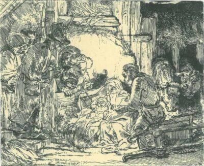 Rembrandt, etching, Bartsch B. 45,