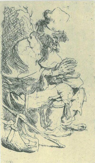 Rembrandt, etching, Bartsch B. 173,